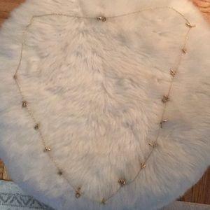 Gold Stella & Dot renegade cluster necklace